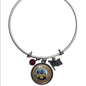 Jewelry - US Army Charm Bangle